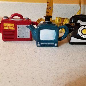 Three Mini Teapots